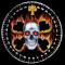 Flaming Skull Compass